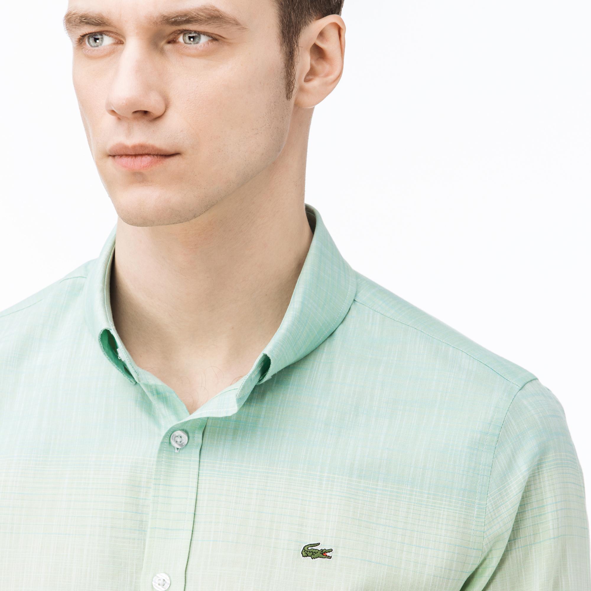 b3068a4896219 Lacoste Erkek Slim Fit Degrade Gömlek CH0924-24Y