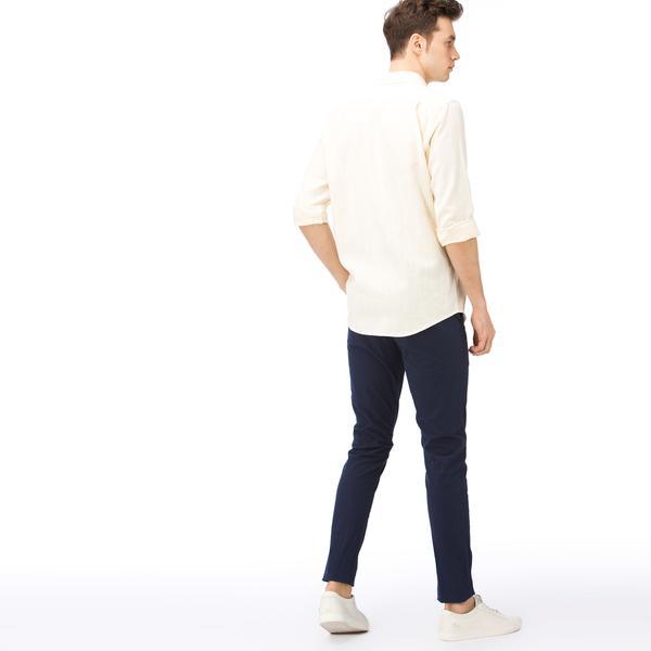 Lacoste Erkek Slim Fit Lacivert Gofre Pantolon