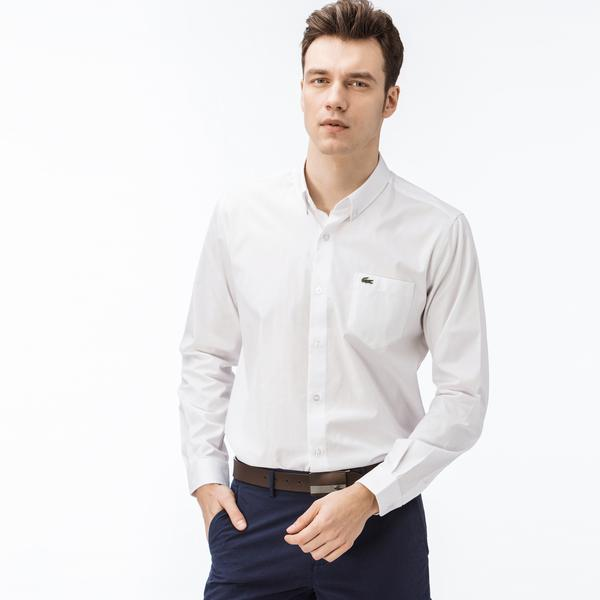 Lacoste Erkek Slim Fit Bej Gömlek