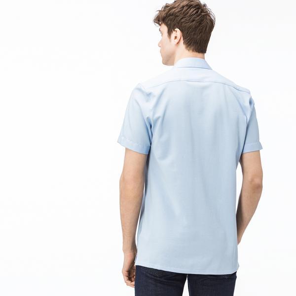Lacoste Erkek Regular Fit Mavi Kısa Kollu Gömlek