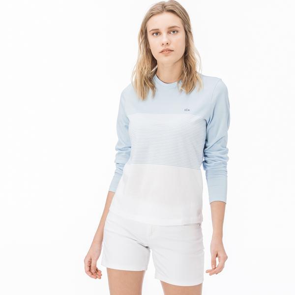 Lacoste Kadın Bej Uzun Kollu T-Shirt