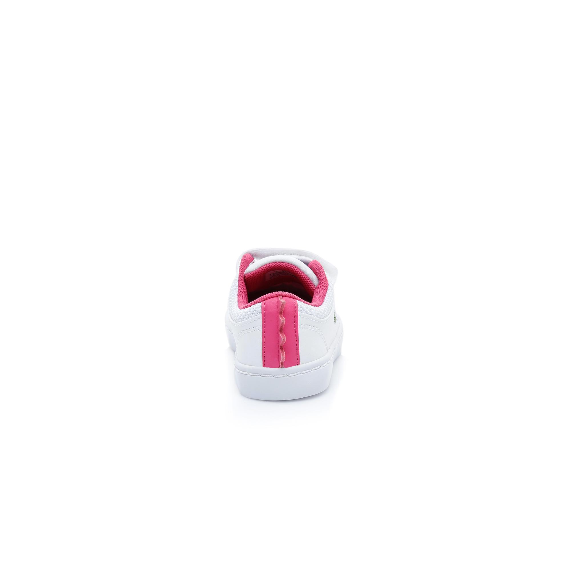 Lacoste Çocuk Beyaz - Koyu Pembe Straightset 119 1 Casual Ayakkabı