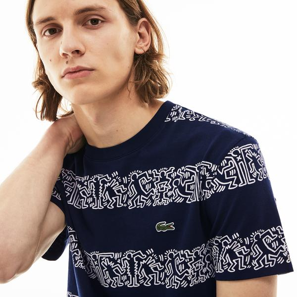 Lacoste X Keith Haring Erkek Lacivert T-Shirt