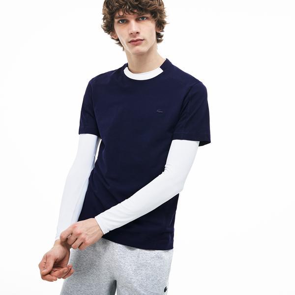 Lacoste Erkek Regular Fit Beyaz - Lacivert T-Shirt