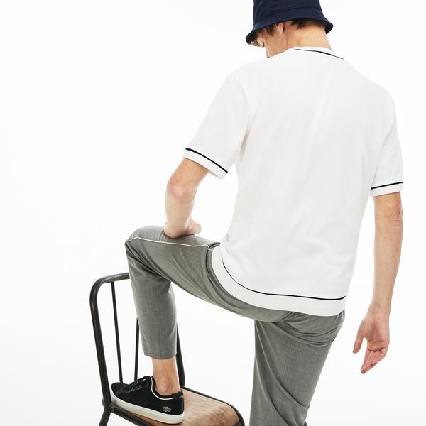 Lacoste Erkek Relax Fit Beyaz T-Shirt