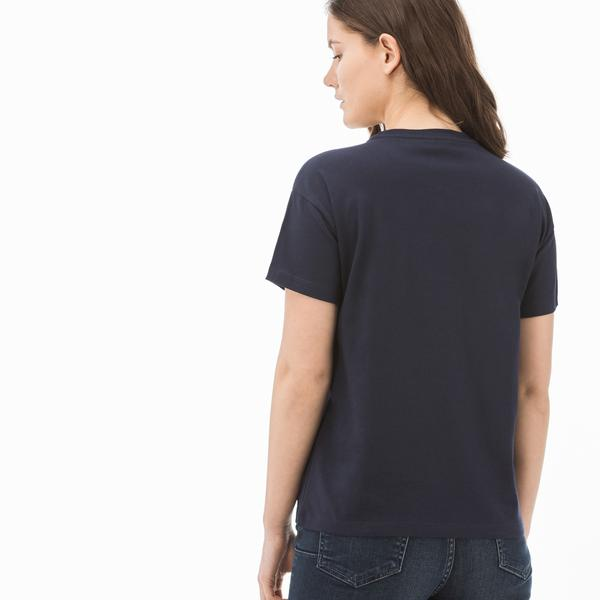 Lacoste Sport Kadın Lacivert T-Shirt