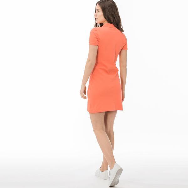 Lacoste Kadın Slim Fit Turuncu Elbise