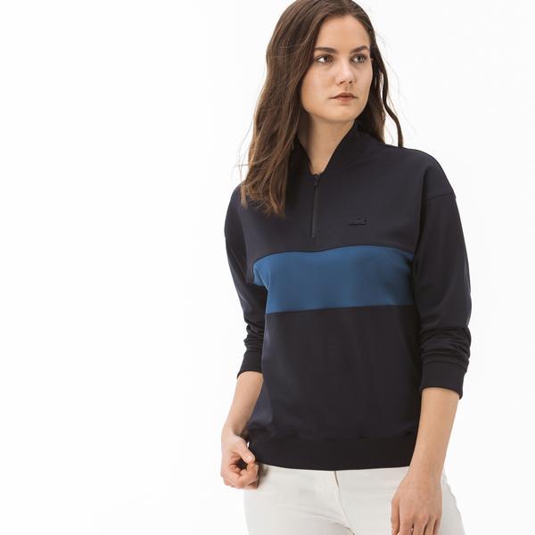 Lacoste Kadın Lacivert - Mavi Renk Bloklu Sweatshirt