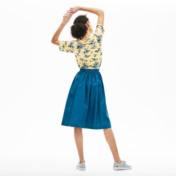 Lacoste Kadın Desenli Sarı T-Shirt